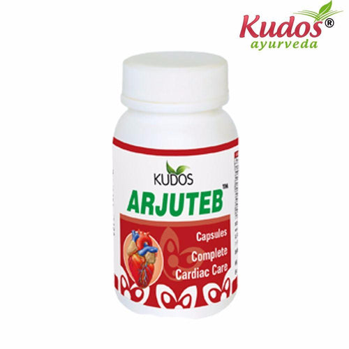 Kudos Arjuteb Capsules - 60 Capsule Pure Natural Ayurvedic - Healthcare Available