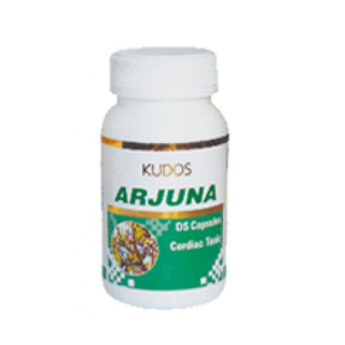 Kudos Arjuna Capsules/D.S - 60 Capsules- Pure Natural Ayurvedic - Healthcare Available