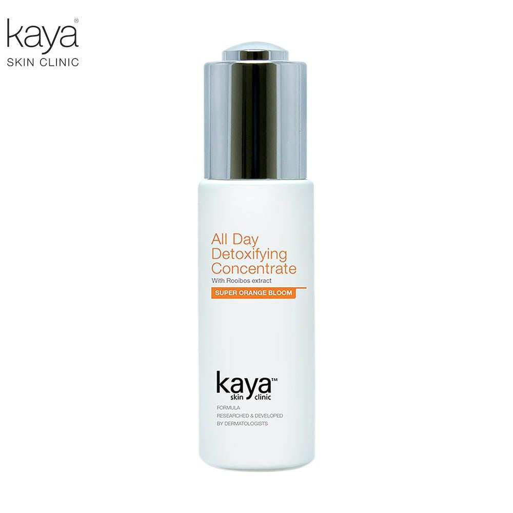 KAYA All Day Detoxifying Concentrate- Aqua, Sodium Hyaluronate, Rooibos-30ml Available