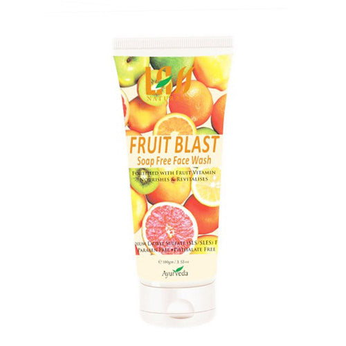 Lass Naturals Fruit Blast Face Wash Fruit Nutrients Keep The Skin Supple & Soft Available