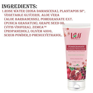 Lass Naturals Pomegranate & Grapes Face Wash For Dead Cells & Black Heads