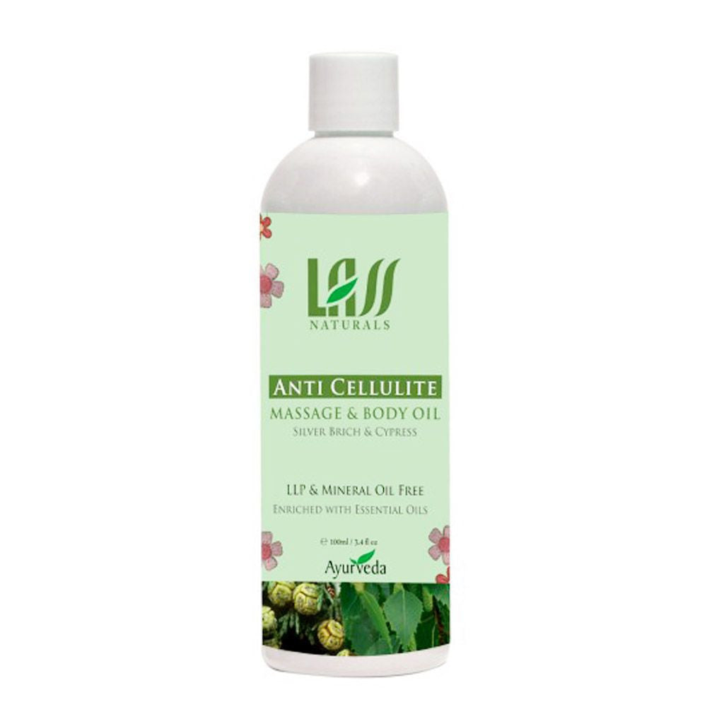 Lass Naturals Anti Cellulite Massage Oil For Helps Breakdown Excessive -100Ml Available