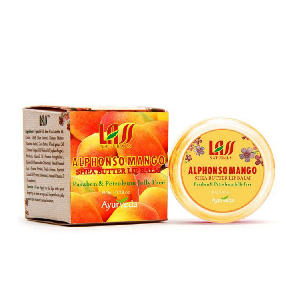 Lass Naturals Alphonso Mango Lip Balm 8GM For Pamper & Protect Lips Available