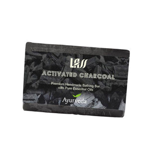 Lass Naturals Activated Charcoal Soap For Unisex Smooth Skin 125Gm