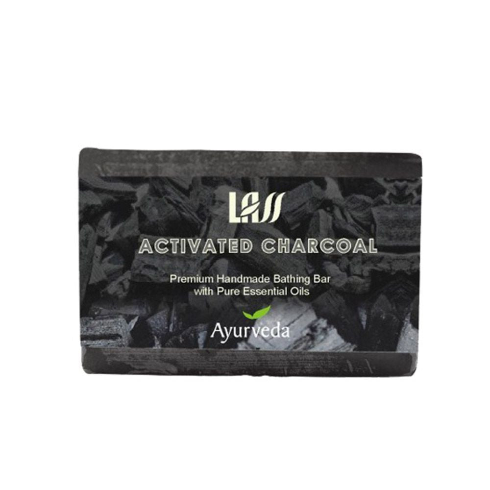 Lass Naturals Activated Charcoal Soap For Unisex Smooth Skin 125Gm Available