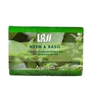 Lass Naturals Neem Basil & Tea Tree Soap For Skin Problems Patches,Pimples etc. Available