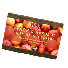 Lass Naturals Peach Apricot & Walnut Scrub Soap For Nourishes & Moisturize