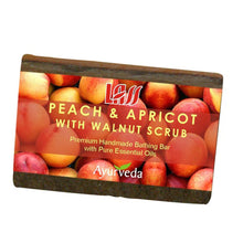 Lass Naturals Peach Apricot & Walnut Scrub Soap 125GM