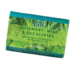 Lass naturals Rosemary Mint & Eucalyptus Soap125Gm For Oily Skin