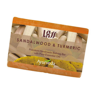 Lass Naturals Sandalwood & Turmeric Soap 125Gm For All Type Skin