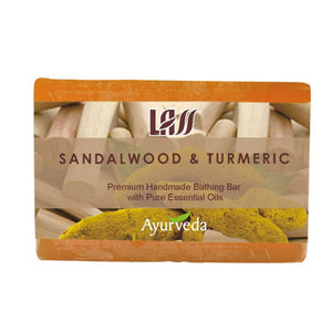Lass Naturals Sandalwood & Turmeric Soap 125Gm For All Type Skin Available