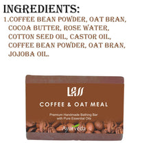 Lass Naturals Coffee & Oat  Meal Soap Lightens pigmentation & skin tone