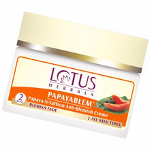 Lotus Papayablem Papaya-n-Saffron Anti-Blemish Cream-50 Gms
