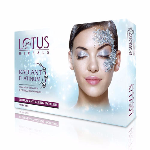 Lotus Herbals Radiant Platinum Cellular Anti-Ageing 4 Facial Kit-170gm