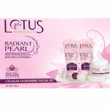 Lotus Herbals Radiant Pearl Facial Kit - All Skin Types-37 Gms