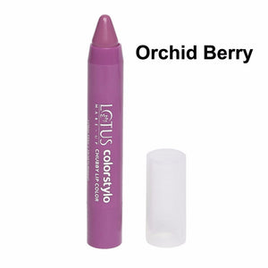 Lotus Herbals Colorstylo Chubby Lip Color,3.7g- Orchid Berry