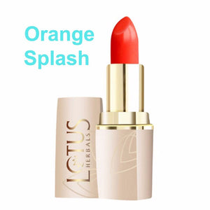 Lotus Herbals Pure Colors Lip Color-All Shade(All Skin Types) For Women- Orange Splash