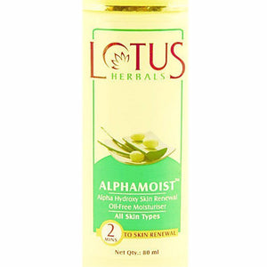 Lotus Alphamoist Alpha Hydroxy Skin Renewal OilFree Moisturiser 80 ml