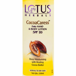 Lotus Herbals CocoaCaress Daily Hand and Body Lotion SPF 20- 250 ml