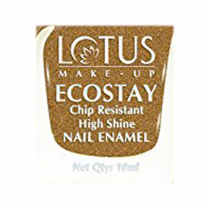 Lotus Herbals Ecostay Nail Enamel- 10 ml- Gold Frost