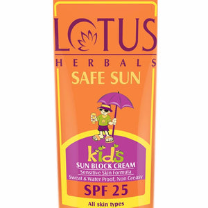 Lotus Herbals Safe Sun Kids Sun Block Cream SPF 25 – 100 Gms