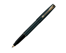 New Parker Frontier Matte Black MB Gold Trim GT Roller Ball RB Pen Rollerball