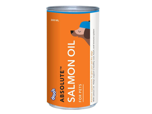 Pet Care Drools Absolute Salmon Oil Syrup - Dog Supplement- 300ml