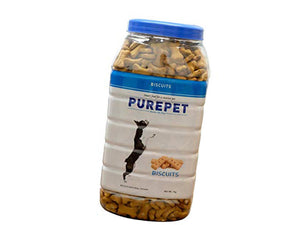 Pet Care Purepet Real Chicken Biscuit, Dog Treats Milk- 500gm
