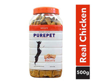 Pet Care Purepet Real Chicken Biscuit, Dog Treats Chicken Flavour- 500gm
