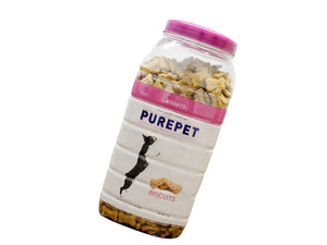 Pet Care Purepet Real Chicken Biscuit, Dog Treats Mutton Flavour- 1000gm