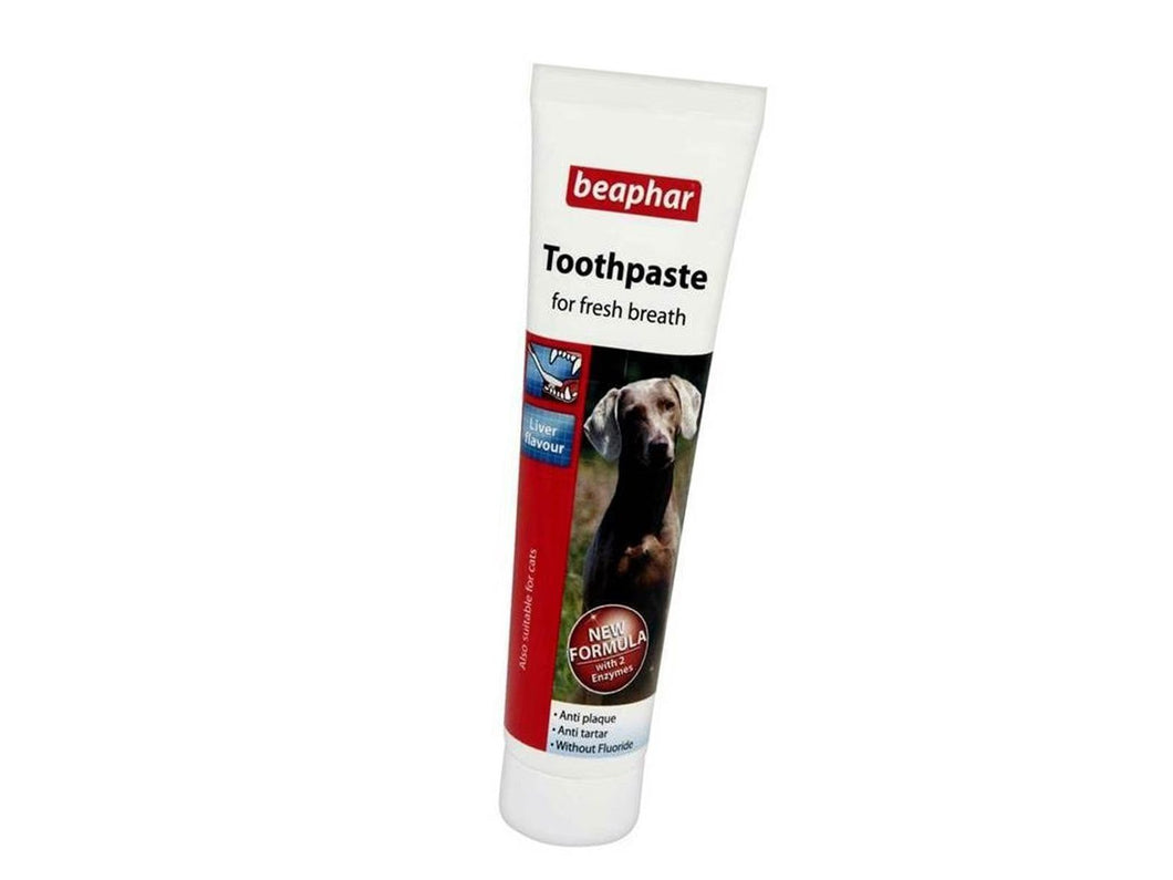 Pet Care Beaphar Double Action Dog Toothpaste Liver Flavour- 100gm Available