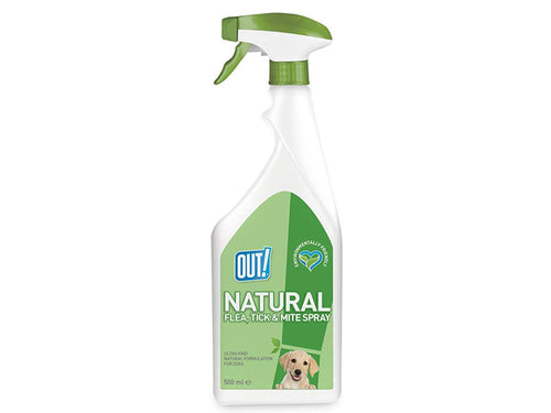 Pet Care Out! Natural Flea and Tick Spray For Dogs- 500ml Available