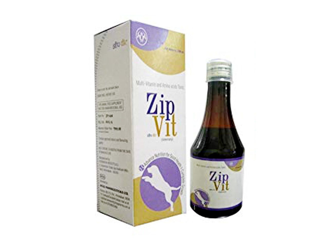 Pet Care Zip Vit Multivitamin Tonic For Pets- 200ml Available