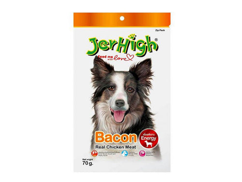 Pet Care JerHigh Bacon Dog Treats- 70gm Available