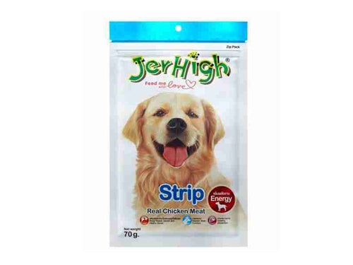 Pet Care JerHigh Strip Dog Treats- 70gm Available