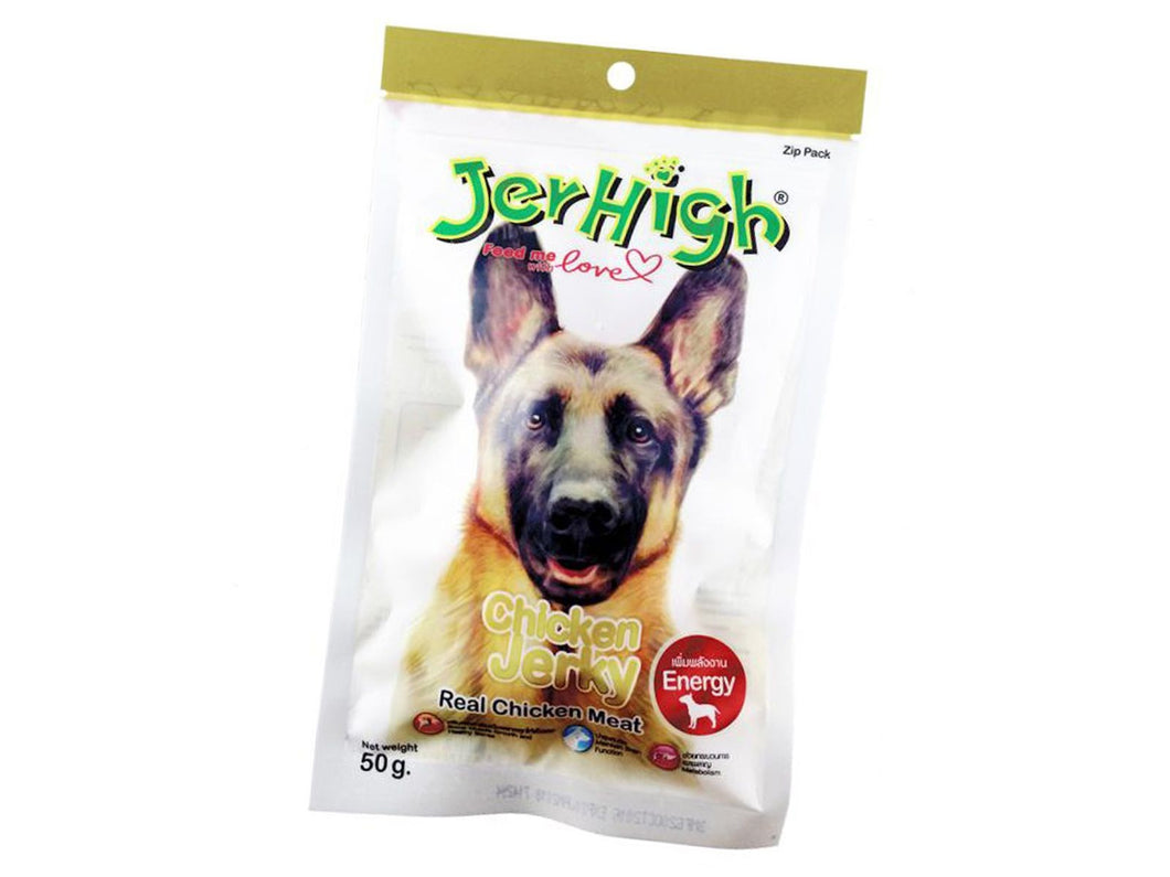 Pet Care JerHigh Chicken Jerky Dog Treats- 50gm Available