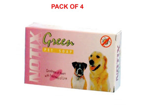 Pet Care Notix Green Pet Soap Pack of 4 - 75gm Available