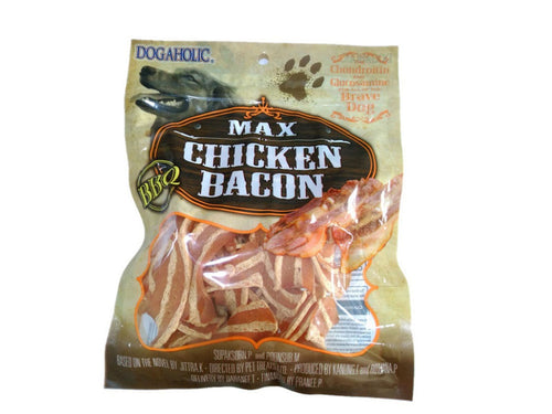 Pet Care Max Chicken Bacon Strips, BBQ Dog Treats- 130gm Available