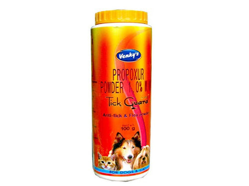 Pet Care Venky's Tick Guard Anti Tick & Flea Powder For Pets- 100gm Available