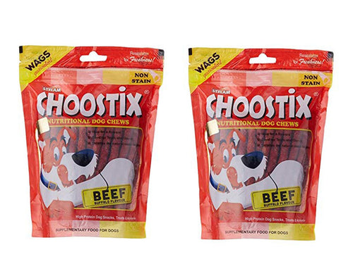 Pet Care Choostix Beef Dog Treat Pack of 2- 450gm Available