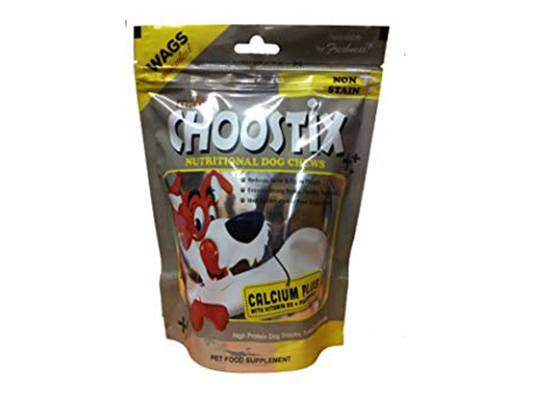 Pet Care Choostix Calcium Plus Dog Treat Pack of 2 - 450gm Available