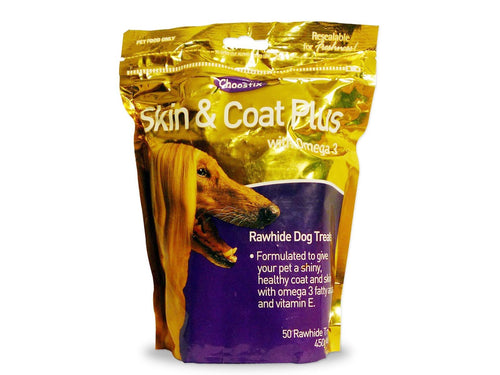 Pet Care Choostix Skin and Coat Plus Dog Treat- 450gm Available