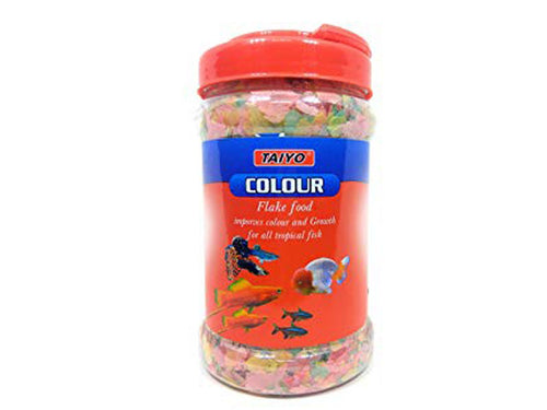 Pet Care Taiyo Colour Flakes Fish Food- 100gm Available