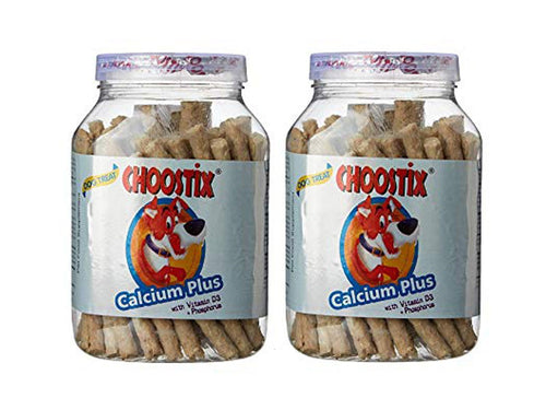 Pet Care Goofy Tails Choostix Calcium Plus Dog Treat with Key Chain Pack of 2- 450gm Available
