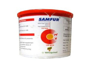 Pet Care Vetoquinol Samfur Feed Supplement For Pets- 100gm Available