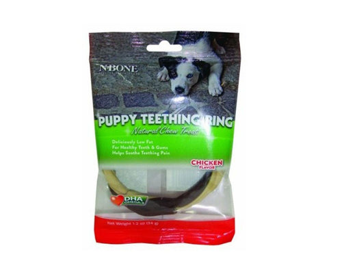 Pet Care NPIC N-Bone Puppy Teething Ring - Chicken Flavour- 34gms Available