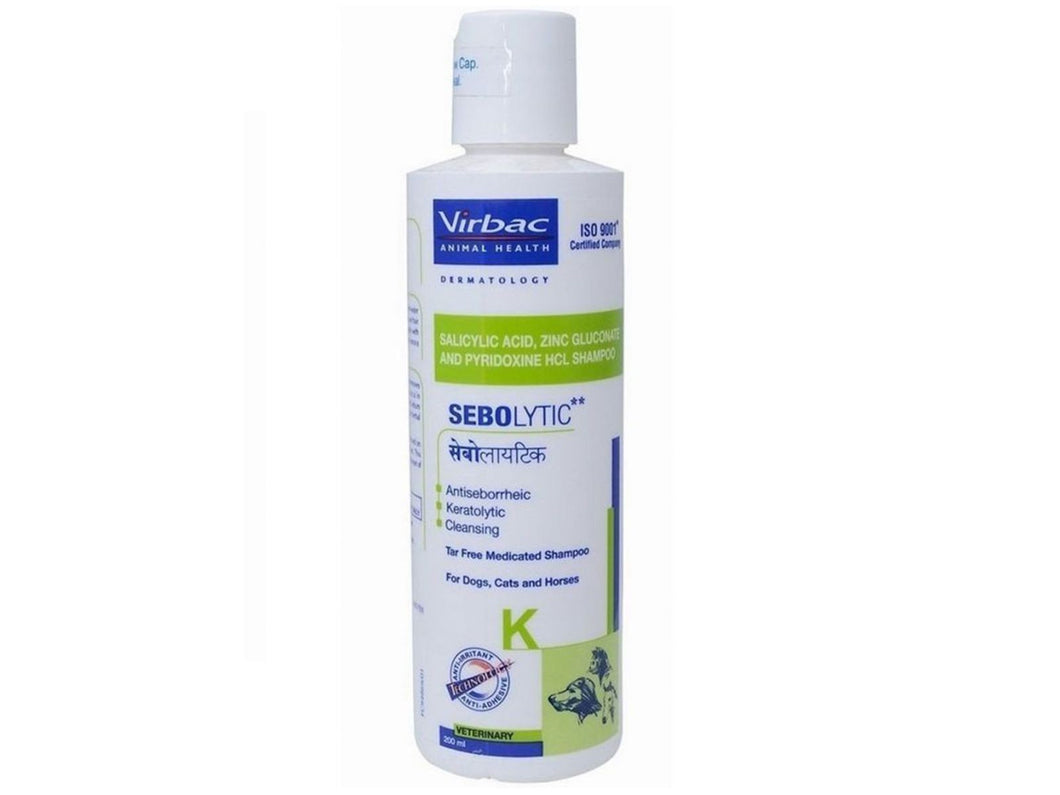 Pet Care Virbac Sebolytic Medicated Shampoo for Pets - 200 ml Available