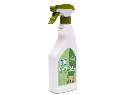 Pet Care Bramton OUT! Natural Flea & Tick Spray- 500ml Available