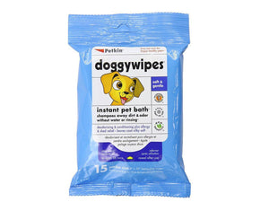 Pet Care Petkin Doggy Wipes - 15 wipes Available