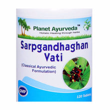 Planet Ayurveda's Sarpgandhaghan Vati Pills (120) Helps to Blood Pressure
